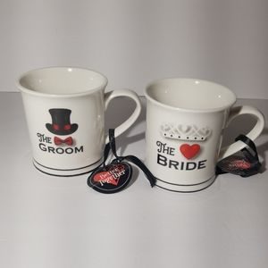 Mug set THE BRIDE, THE GROOM